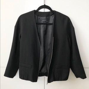 Zara black formal bomber jacket